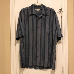 Tommy Bahama 100%Silk vintage fit shirt L